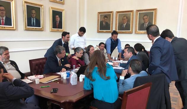 Reunión para conformar las comisiones constitucionales en la Cámara de Representantes