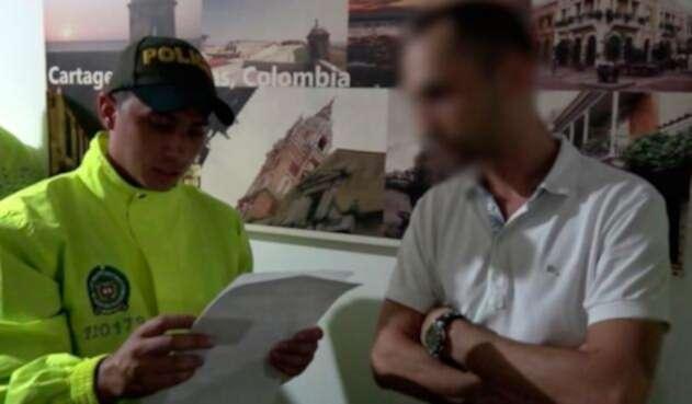 La Policía Metropolitana de Cartagena en el marco de la captura contra uno de los implicados en explotación sexual infantil en la ciudad amurallada