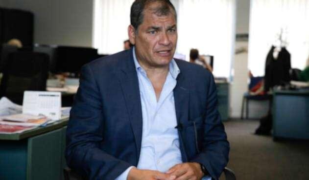 Rafael Correa, expresidente de Ecuador, en Bélgica, donde reside