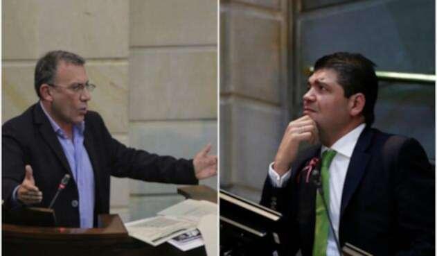 Roy Barreras y Juan Diego Gómez, congresistas