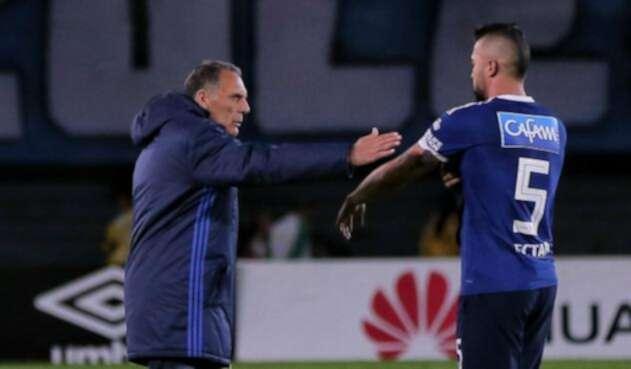 Miguel Russo y Andrés Cadavid con Millonarios en la Liga Águila