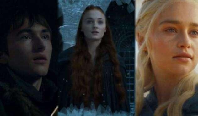 Sansa Stark, Daenerys y Bran Stark, personajes de Game of Thrones