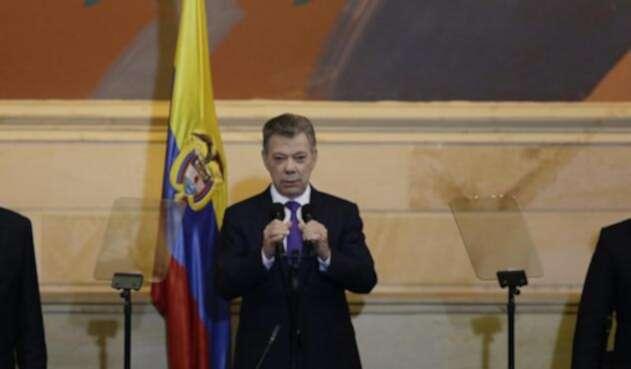 El presidente Juan Manuel Santos le dio la bienvenida al nuevo Congreso