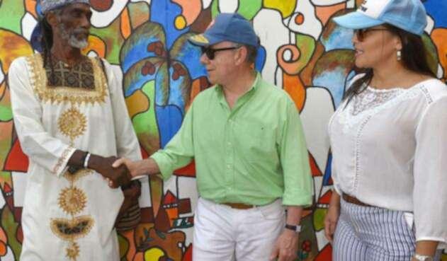 El presidente Juan Manuel Santos durante su visita a la isla de San Andrés, el viernes, 13 de julio de 2018