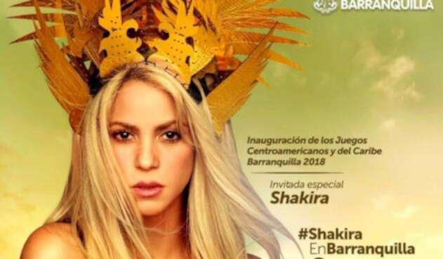 Shakira anunciando su presentación en los Juegos Centroamericanos y del Caribe 2018 Barranquilla 2018