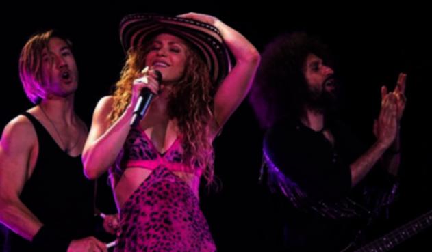 Shakira en sus conciertos de Europa