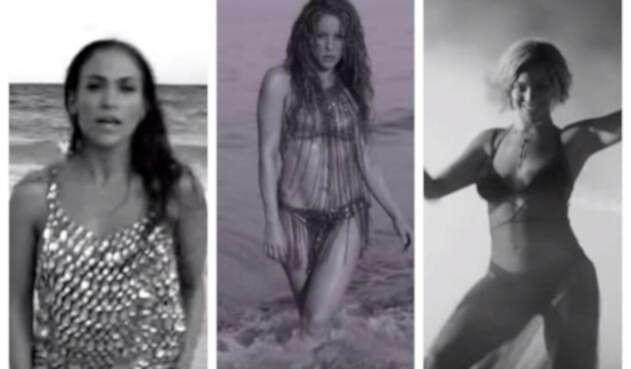 Varios aficionados encontraron similitudes entre los videos de Shakira, JLo y Beyoncé