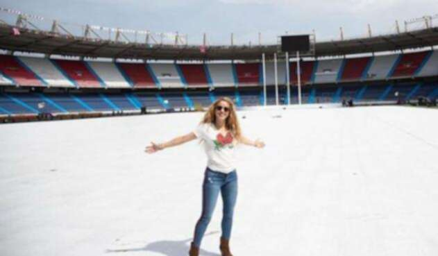 Shakira en el estadio Metropolitano de Barranquilla