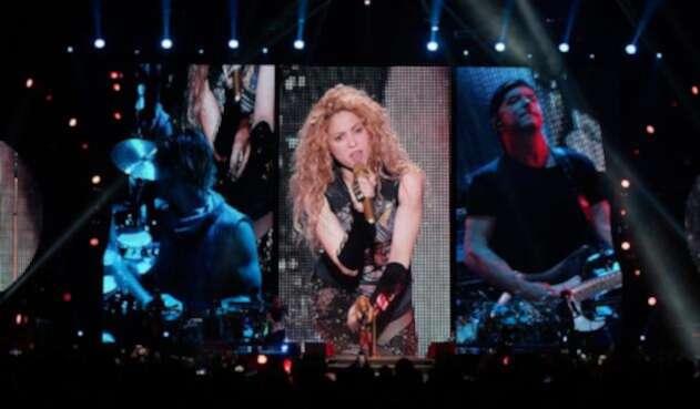 """Shakira, durante su concierto """"El Dorado World Tour"""""""