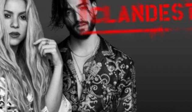 Shakira y Maluma en el afiche promocional de Clandestino