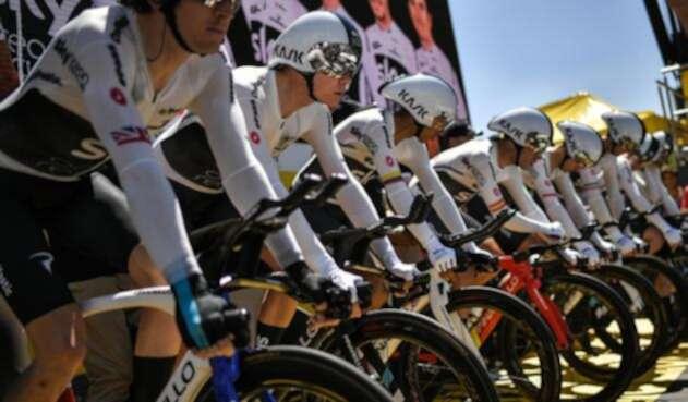 El Sky de Chris Froome en la crono por equipos del Tour de Francia 2018