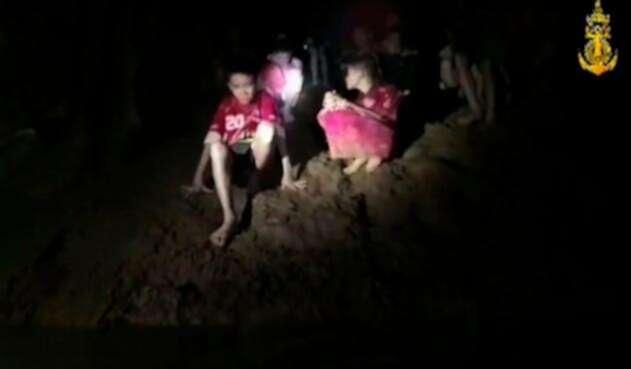 Imagen correspondiente al hallazgo de los niños tailandeses