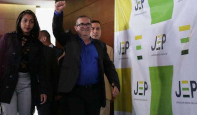 Timochenko ante la JEP, antes de llegar al Senado