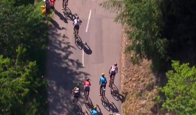 Nairo Quintana y Chris Froome en su mano a mano del Tour de Francia, en la etapa 11