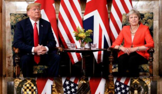 Donald Trump y Theresa May
