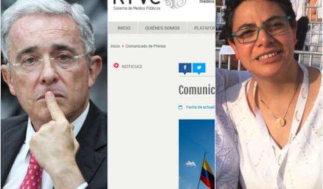 El expresidente Álvaro Uribe, el comunicado de RTCV y Tatiana Duplat
