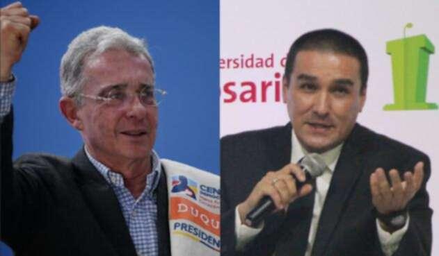 El senador Álvaro Uribe y el caricaturista Matador, duramente enfrentados