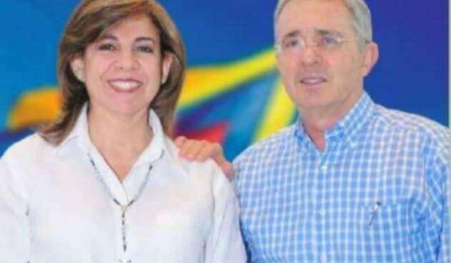 Álvaro Uribe con su eventual reemplazo, Milla Romero Soto