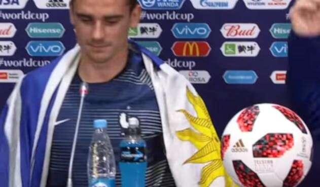 Antoine Griezmann en la rueda de prensa tras la final de Rusia 2018