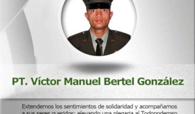 Víctor Manuel Bertel González, policía asesinado