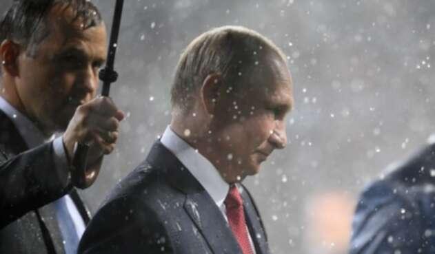 Vladimir Putin, en la premiación del Mundial de Rusia