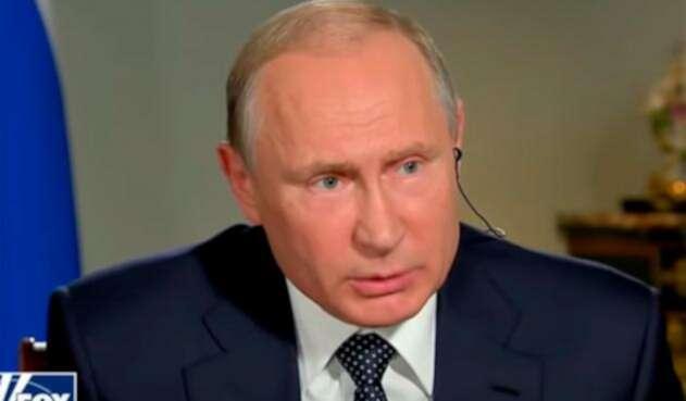 Vladimir Putin, presidente ruso, en la entrevista con Fox News