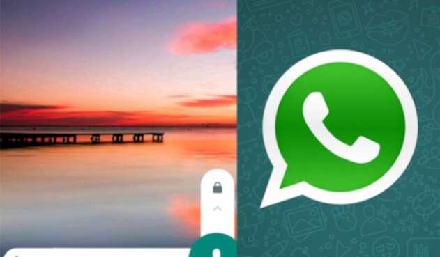 Nota de voz en chat de WhatsApp