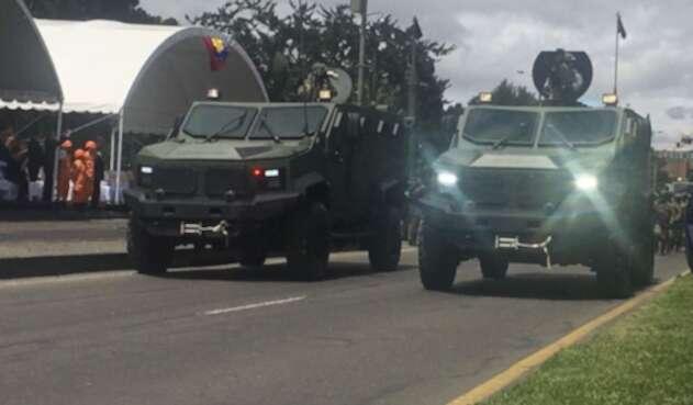 Parque automotor de las fuerzas militares de Colombia