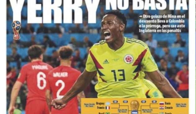 Yerry Mina, de nuevo en las portadas de la prensa de Barcelona