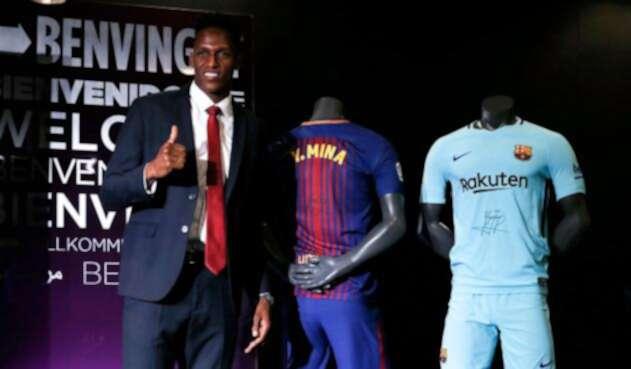 Yerry Mina, futbolista colombiano al servicio de Barcelona