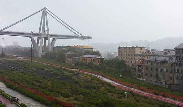 Puente en Génova se derrumba dejando al menos 11 muertos