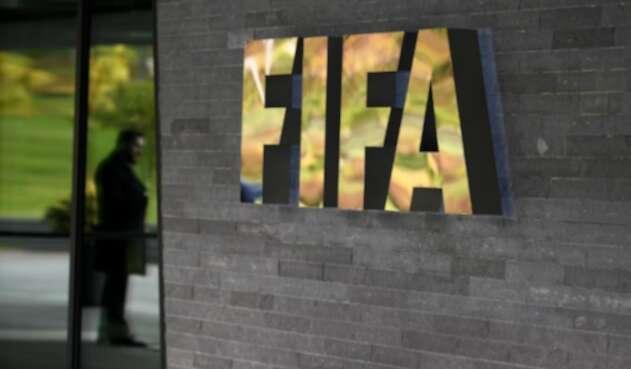 El logo oficial de La FIFA en Suiza