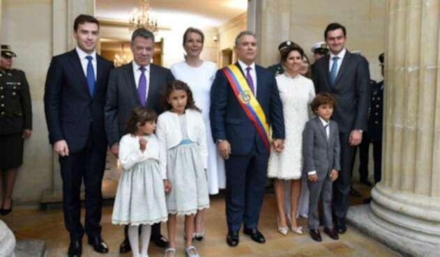 Familia Santos y Duque en la Casa de Nariño