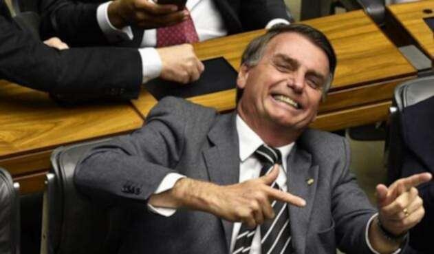 El candidato brasileño Jair Bolsonaro, durante una sesión con parlamentarios en Brasilia.