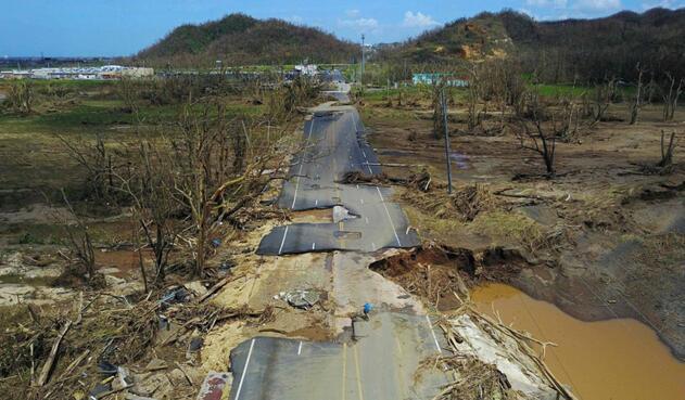 Huracán María en Puerto Rico.