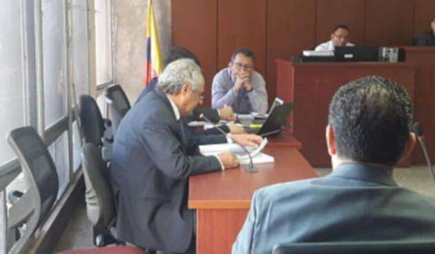 Empresario antioqueño, Manuel Santiago Mejía Correa, en el juicio de Santiago Uribe.