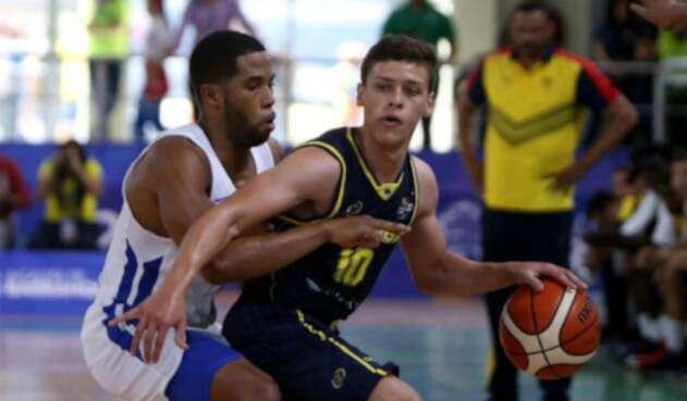 Colombia Vs Puerto Rico en la final de baloncesto en los Juegos Centroamericanos y del Caribe Barranquilla 2018