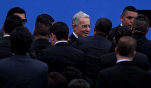 Uribe en posesión de Iván Duque