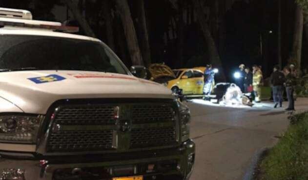Taxista quemado