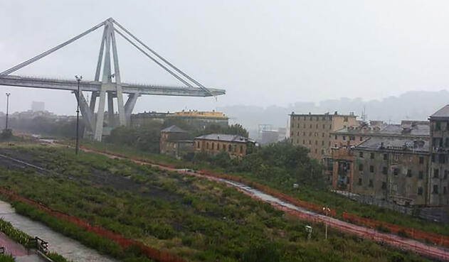Derrumbe de puente en Italia