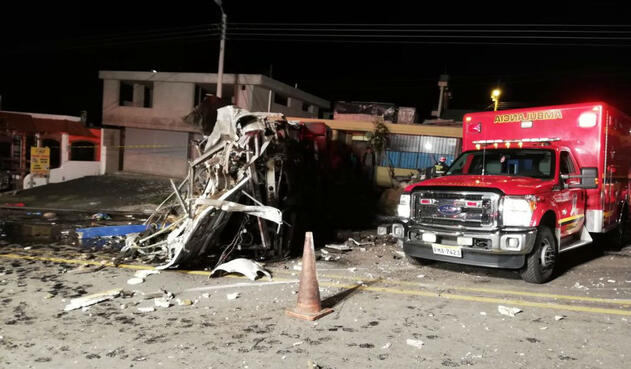 Accidente bus Ecuador
