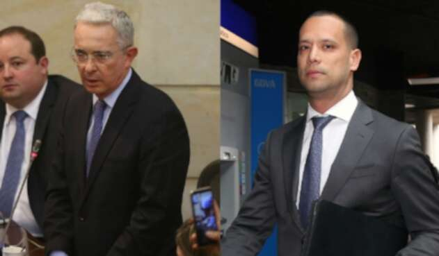 El senador Álvaro Uribe y el abogado Diego Cadena