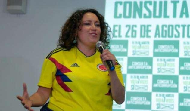 Angélica Lozano, congresista, promotora de la consulta anticorrupción