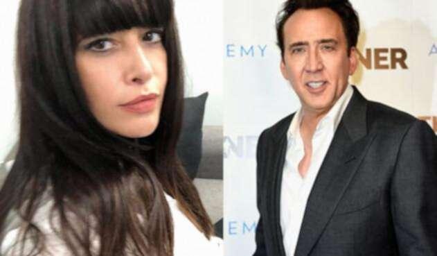 Angie Cepeda y Nicolas Cage