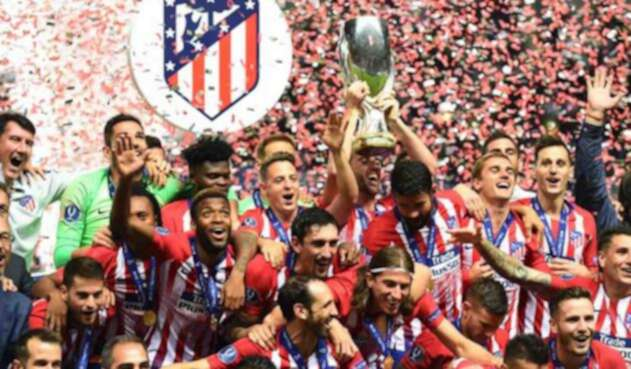 Atlético de Madrid logra su tercera Supercopa de Europa.