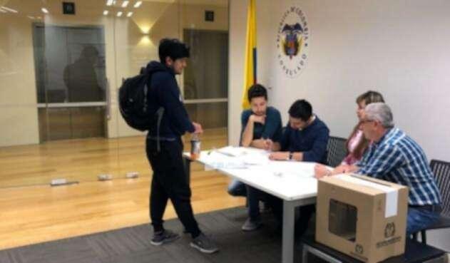 votaciones en el exterior  Cancillería