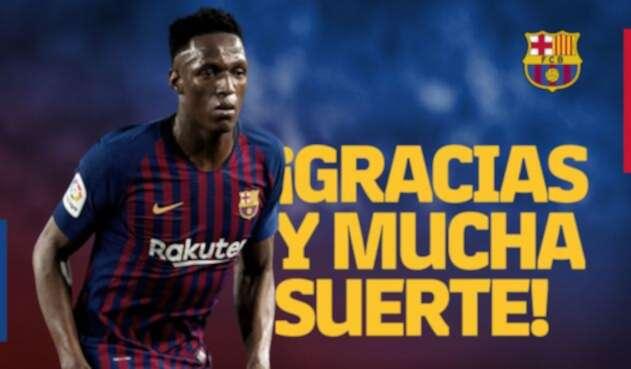 Yerry Mina dejó el FC Barcelona