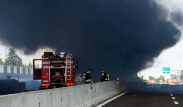 Incendio en Bolonia deja cerca de 55 heridos