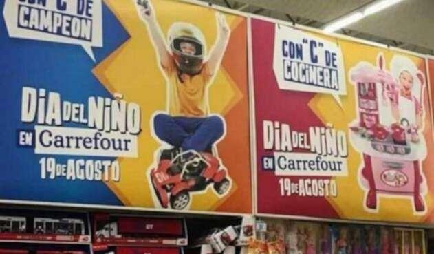 Imagen de la campaña publicitaria de Carrrefour