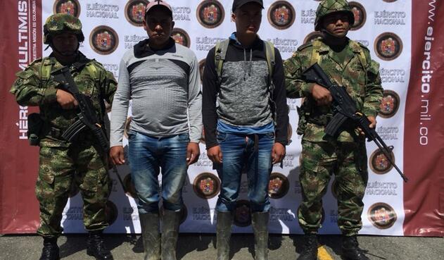 Capturan a alias Calucho y alias Yepes, disidentes de las Farc.